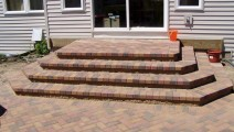 Block and Brick landing and steps in Lakeville