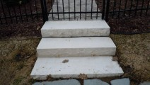 Waukesha White Natural Stone Steps