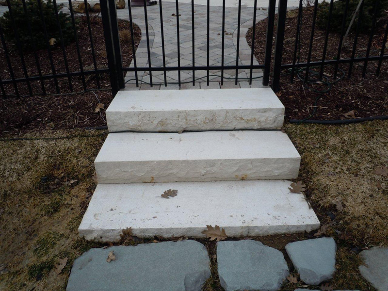 ... Waukesha White Natural Stone Steps ...