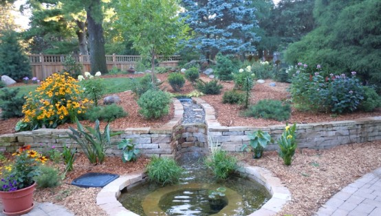 Minnetonka Landscape Design with Water Feature
