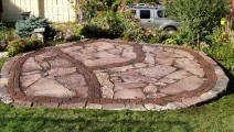 Cherryland Patio with Brick Inlay