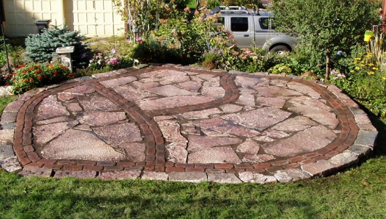 Cherryland Patio with Brick Inlay