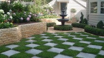 Bluestone Inlay into Yard