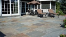 Raised Bluestone Patio in Minnetonka