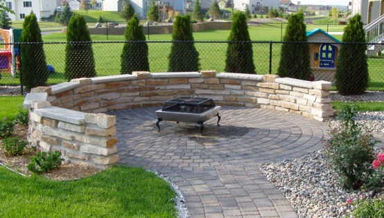 Mortared HIghland Brown Stone in Shakopee