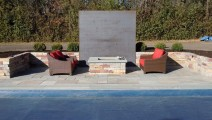 Weathered Chilton Wall and FIre Pit in Orono