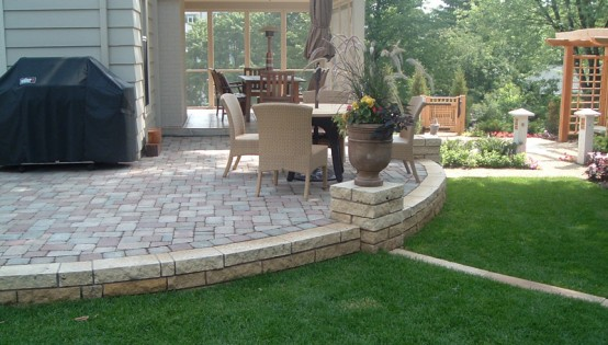 Raised Belgard Paver Patio in St Paul