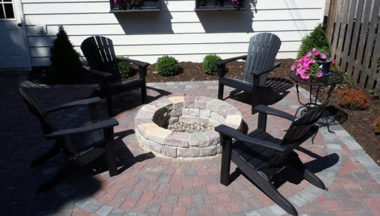 Willow Creek Fire Pit Paver Patio