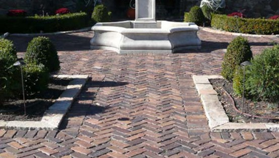 Grand Flint Paver Entry in Edina