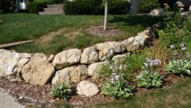 Minneapolis Landscaping with Limestone Boulders