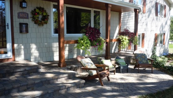 Willow Creek paver patio and Landscape in Edina