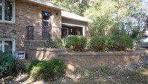 Versa-lok Chestnut retaining wall in Bloomington