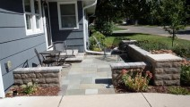 Bluestone patio and Anchor Artisana wall block in Edina