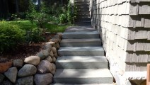 Bluestone step treads in Edina