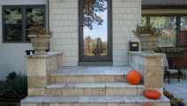 Travertine Veneer Stoop in Minneapolis
