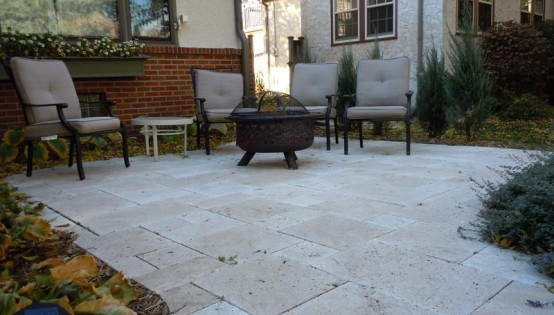 Travertine Patio in Minneapolis