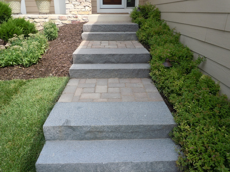 ... Paver Walk With Granite Steps In Plymouth ...