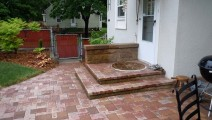 Paver Veneer of block step system in St. Paul