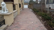 Reclaimed Flint Paver driveway Minneapolis